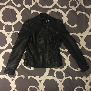 French Connection Vegan Leather Jacket